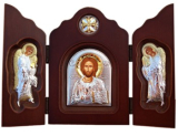 Икона 34x24 Господь Вседержитель (серебро)