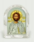 Икона 5,3x6,7x2,1 Иисус Христос (серебро; овал, стекло)