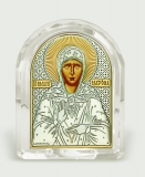 Икона 5,3x6,7x2,1 Матрона Московская (серебро; овал, стекло)