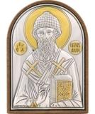 Икона 4x5,6 Спиридон Тримифутский (посеребрение; пластиковая основа)