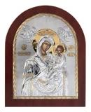 "Икона 20x25 ""Скоропослушница"" Богородица (серебро; деревянная основа)"