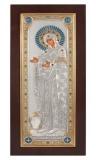 "Икона 15,5x35,5 ""Геронтисса"" Богородица (серебро; дерево)"