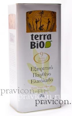 Оливковое масло Terra BIO Extra Virgin 5 литров