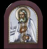 Икона 15,6x19 Серафим Саровский (серебро; деревянная основа)