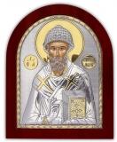 Икона 15,6x19 Спиридон Тримифунтский (серебро; деревянная основа)