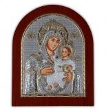 """Икона 11x13,1 """"Вифлеемская"""" Богородица (серебро; деревянная основа)"""
