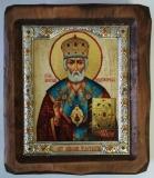 """Икона """"ВИЗАНТИКОС"""", ~115-135, Полуоклад № 3, Николай, шт"""