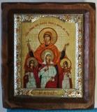 """Икона """"ВИЗАНТИКОС"""", ~115-135, Полуоклад № 3, Вера Надежда Любовь, шт"""