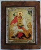 """Икона """"ВИЗАНТИКОС"""", ~175-205, Полуоклад № 4, Георгий на Коне, шт"""