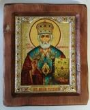 """Икона """"ВИЗАНТИКОС"""", ~175-205, Полуоклад № 4, Николай, шт"""