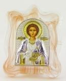EK1-023MAG-3. Икона Silver Axion, 70х90, Св. Пантелеймон. Мурано, шт
