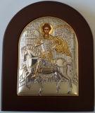 EK2-014XAG, Икона Silver Axion, 85x100, Св. Дмитрий Солунский, шт