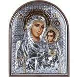 """Икона 8,5x10,5 """"Иерусалимская"""" Богородица (серебро; пластиковая основа)"""