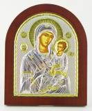 """Икона 11x13 """"Иверская"""" Богородица (серебро; деревянная основа)"""