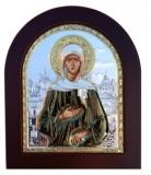 Икона 11x13 Ксения Петербургская (серебро; цвет, деревянная основа)