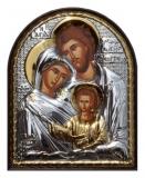 Икона 5,8x7,5 Св. Семейство (посеребрение; пластиковая основа)