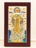 EK55-019XAG, Икона Silver Axion. 80x130. Богородица Святой Горы Афон, Ростовая, шт