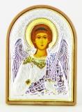 Икона 5,8x7,5 Ангел Хранитель (посеребрение; пластиковая основа)