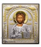 Икона 20,8x24,5 Иисус Христос Классическая серия (посеребрение)