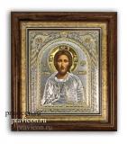 Икона 28,5x30,5 Иисус Христос Классическая серия (посеребрение)