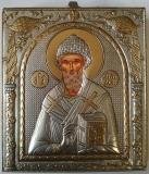 EP523-012XP, икона Afon Silver, 108х121, Св.Спиридон, Под старину, шт