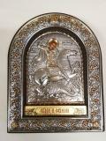EPZ3-010AG\P, Икона Afon Silver, 155x120, Св.Георгий, шт