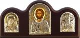 Икона 24,5x12,8 Иисус Христос (серебро; триптих, шелкография)