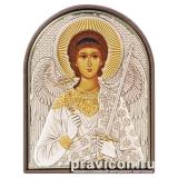 Икона 8,5x10,5 Ангел Хранитель (серебро; пластиковая основа)