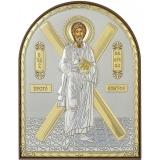 Икона 5,8x7,5 Андрей Первозванный (посеребрение; пластиковая основа)