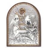 Икона 8,5x10,5 Георгий Победоносец (серебро; пластиковая основа)