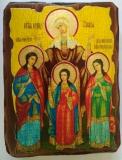Икона под старину, 70-100, Вера, Надежда, Любовь, шт