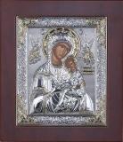 """Икона 10,8x12,8 """"Страстная"""" Богородица (серебро)"""